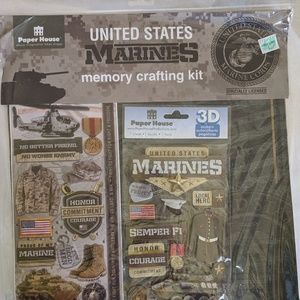 Military Scrapbook Paper/Stickers